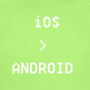 iOS is greater than Android - Short Sleeve Baby Bodysuit