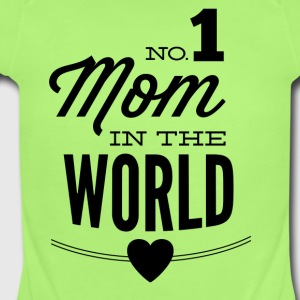 NO_1_mom_in_the_world-01 - Short Sleeve Baby Bodysuit