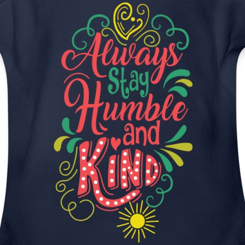 Humble and Kind - Organic Short Sleeve Baby Bodysuit