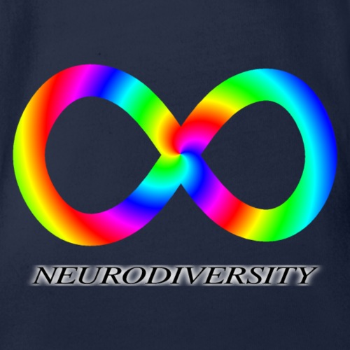 Neurodiversity with Rainbow swirl - Organic Short Sleeve Baby Bodysuit