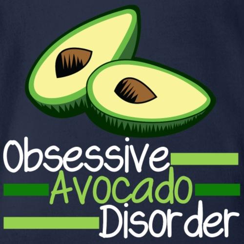 Obsessive Avocado Disorder Food Humor - Organic Short Sleeve Baby Bodysuit