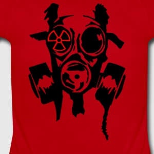 Bad Gasmask Radioactiv - Short Sleeve Baby Bodysuit