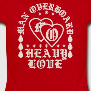 Man overboard heavy love - Short Sleeve Baby Bodysuit