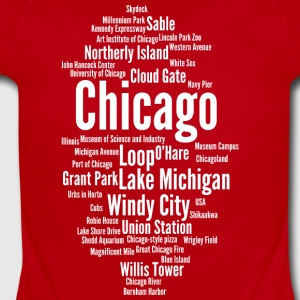Chicago (Windy City; Illinois, USA) - Short Sleeve Baby Bodysuit