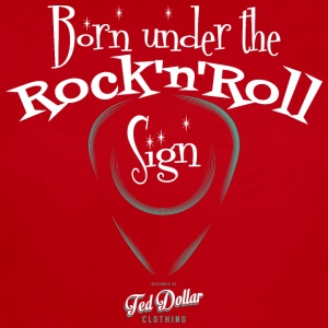 Born Under the Rock'n'Roll Sign_ - Short Sleeve Baby Bodysuit