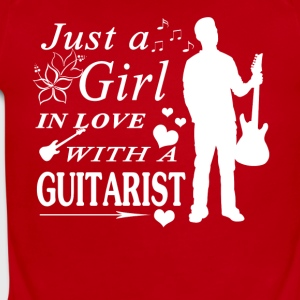 GIRL IN LOVE WITH GUITARIST SHIRT - Short Sleeve Baby Bodysuit