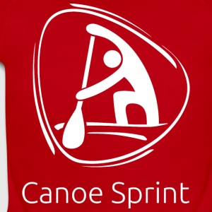 Canoe_sprint_white - Short Sleeve Baby Bodysuit