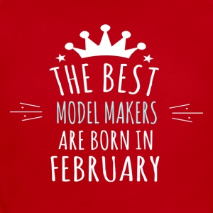Best MODEL_MAKERS are born in february - Short Sleeve Baby Bodysuit