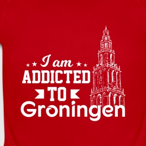I Am Addicted To Groningen MartiniTower - Short Sleeve Baby Bodysuit