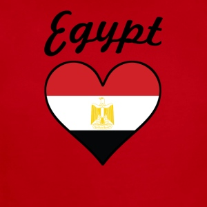 Egypt Flag Heart - Short Sleeve Baby Bodysuit