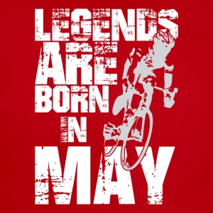 Legends Are Born In May Cycling - Short Sleeve Baby Bodysuit