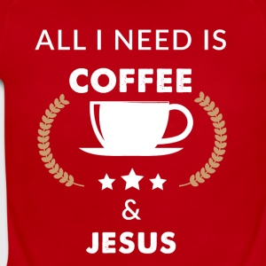 All I need is coffee and jesus - Short Sleeve Baby Bodysuit