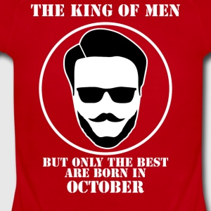 King Of Men Born In October - Short Sleeve Baby Bodysuit