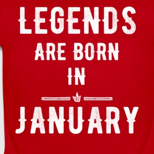 Legends are born in january - Short Sleeve Baby Bodysuit