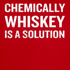 Chemically Whiskey Is A Solution Funny Drinking - Short Sleeve Baby Bodysuit