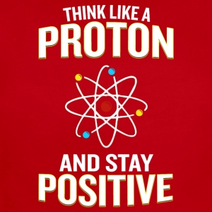 Think Like A Proton And Stay Positive Pun - Short Sleeve Baby Bodysuit