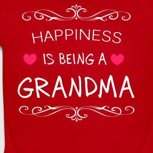 Happiness Is Being a GRANDMA - Short Sleeve Baby Bodysuit