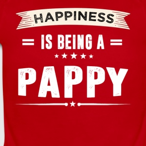 Happiness Is Being a PAPPY - Short Sleeve Baby Bodysuit