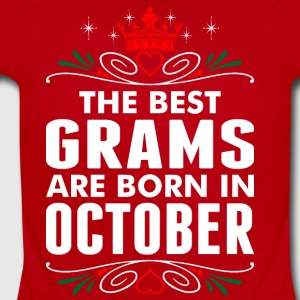 The Best Grams Are Born In October - Short Sleeve Baby Bodysuit