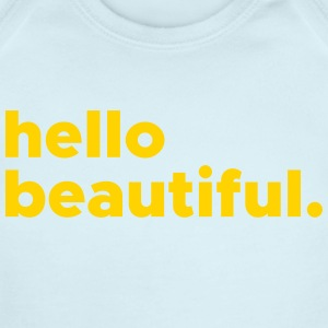 hellobeautiful - Short Sleeve Baby Bodysuit