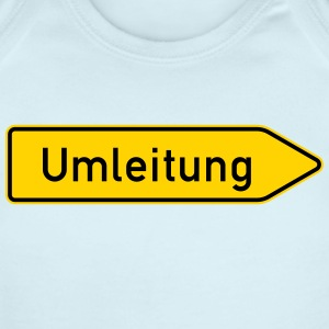 Umleitung Right - German Traffic Sign - Short Sleeve Baby Bodysuit