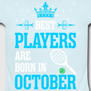 Best Players Are Born In October - Short Sleeve Baby Bodysuit