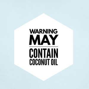 May Contain Coconut Oil 2 - Keto Diet - Short Sleeve Baby Bodysuit