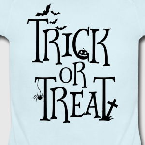 Trick Or Treat Halloween - Short Sleeve Baby Bodysuit