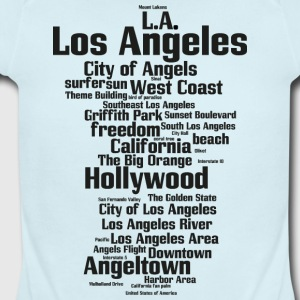 Los Angeles (L.A. Angeltown, City of Angels) - Short Sleeve Baby Bodysuit