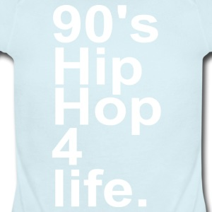 90 S HIP HOP - Short Sleeve Baby Bodysuit