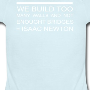 Build Bridges Not Walls Funny - Short Sleeve Baby Bodysuit