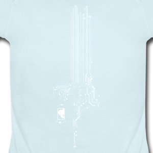Computer Circuit Board - Short Sleeve Baby Bodysuit