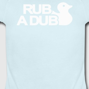 Rub a Dub - Short Sleeve Baby Bodysuit