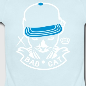 Bad Cat Geddo Cat - Short Sleeve Baby Bodysuit