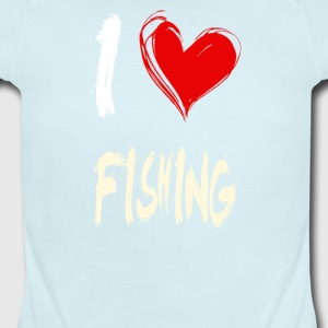 I love FISHING - Short Sleeve Baby Bodysuit