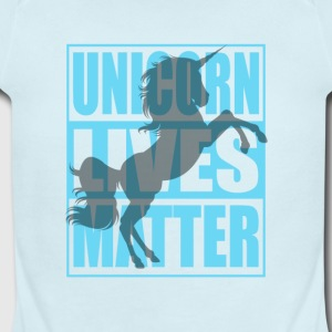 Funny Unicorn Lives Matter Humor Quotes Apparel - Short Sleeve Baby Bodysuit
