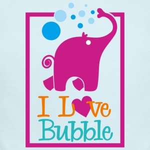 i love bubble - Short Sleeve Baby Bodysuit