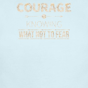 Courage is knowing what not to fear - Short Sleeve Baby Bodysuit