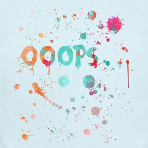 Ooops text with color splatter - Short Sleeve Baby Bodysuit