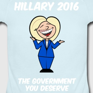 Hillary government you deserve - Short Sleeve Baby Bodysuit