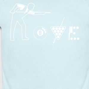 Billiard love shirt - Short Sleeve Baby Bodysuit