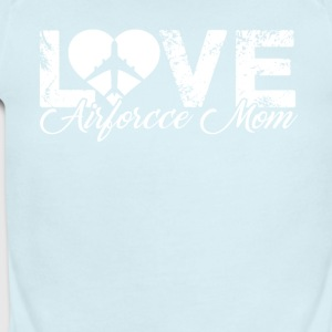 Love Air Force Mom Shirt - Short Sleeve Baby Bodysuit