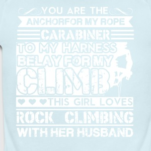 Girl Loves Rock Climbing Shirt - Short Sleeve Baby Bodysuit