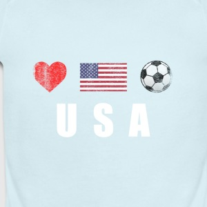 United States Football American Soccer T-shirt - Short Sleeve Baby Bodysuit