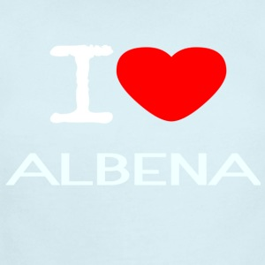 I LOVE ALBENA - Short Sleeve Baby Bodysuit