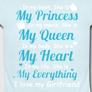 I LOVE MY GIRLFRIEND SHIRT - Short Sleeve Baby Bodysuit