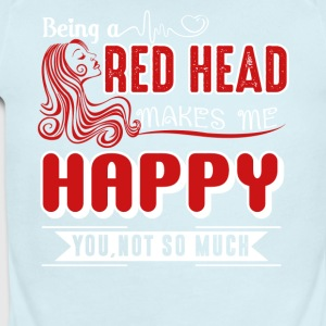 Being A Redhead Makes Me Happy Shirt - Short Sleeve Baby Bodysuit