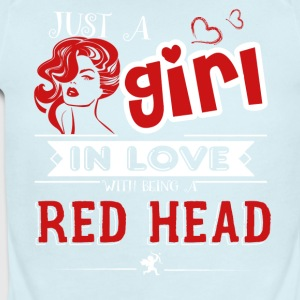 Girl In Love With Being A Redhead Shirt - Short Sleeve Baby Bodysuit