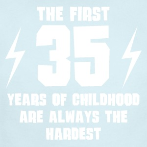 The First 35 Years Of Childhood - Short Sleeve Baby Bodysuit