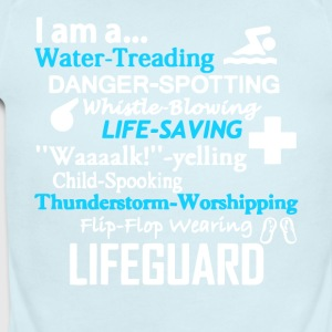 I Am A Lifeguard T Shirt - Short Sleeve Baby Bodysuit